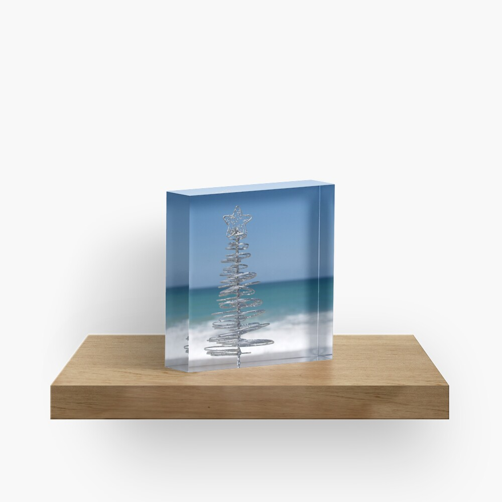 Silver Tree Acrylic Block