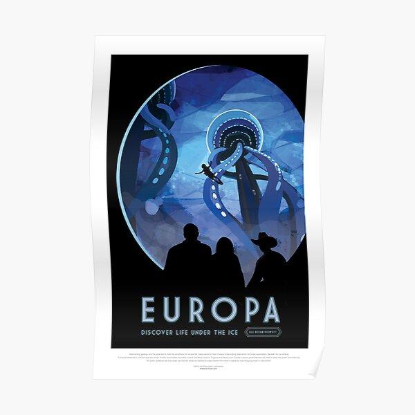 NASA JPL Space Tourism: Europa (8K resolution) Poster
