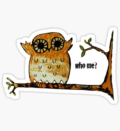 Who Me? Owl Sticker