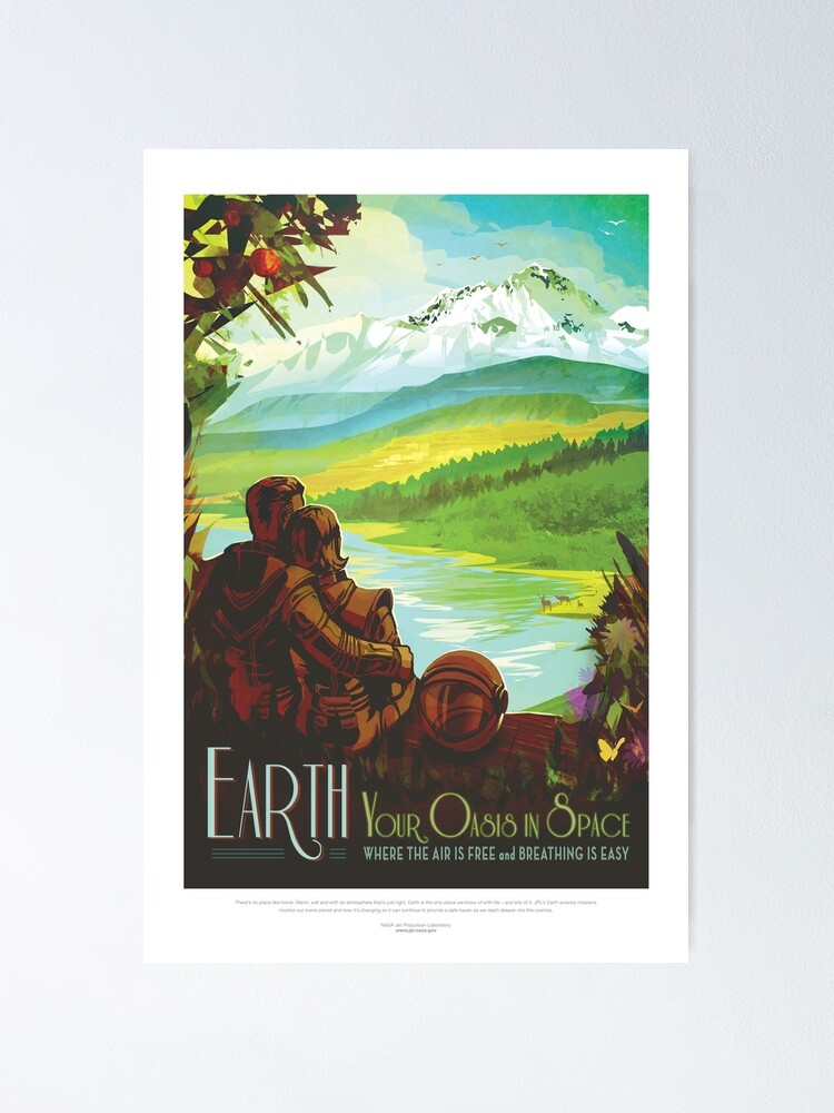 Alternate view of NASA JPL Space Tourism: Earth (8K resolution) Poster