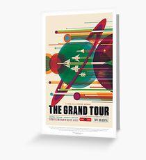 NASA JPL Space Tourism: The Grand Tour Greeting Card