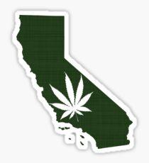 Marijuana Leaf California Sticker