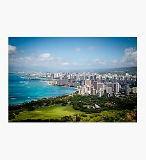 Honolulu from Diamond Head Photographic Print