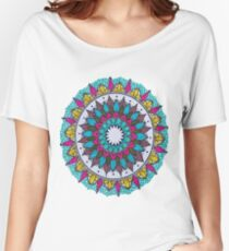 blue yellow mandala Women's Relaxed Fit T-Shirt