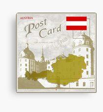 Austria Curio Post Card Canvas Print
