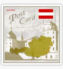 Austria Curio Post Card Sticker