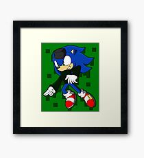 Clever Sonic Framed Print