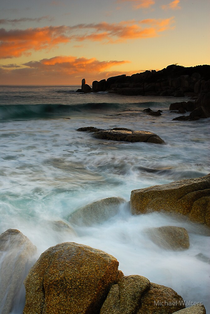 Bay of Fires dawn colours  by Michael Walters