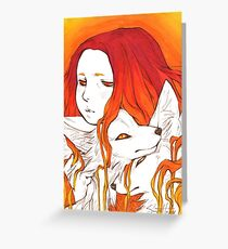 Fox Kin Greeting Card