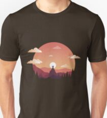 Colorful Temple on a Mountaintop Unisex T-Shirt