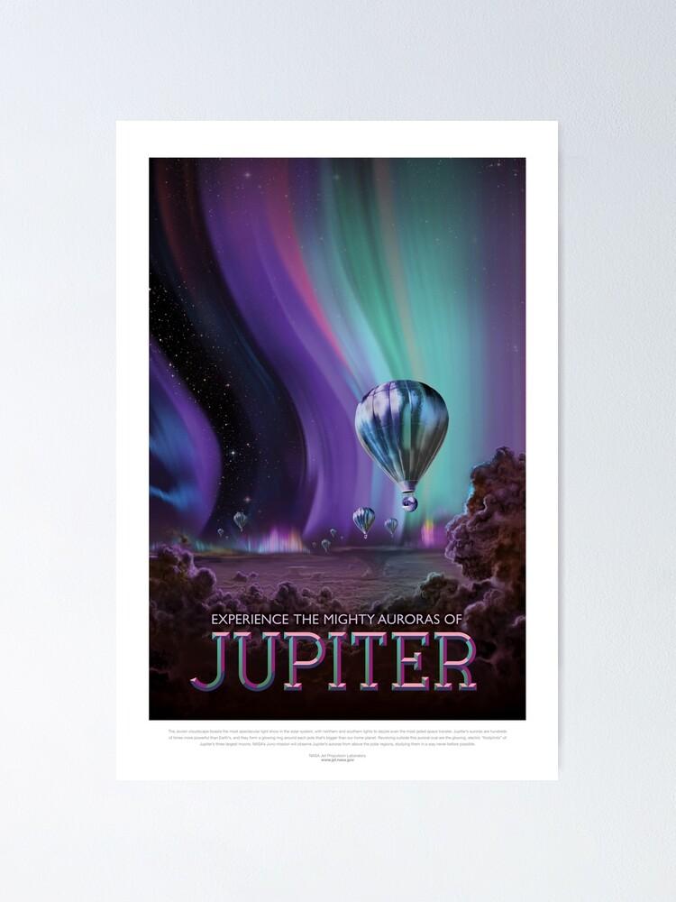 Poster ''NASA JPL Space Tourism: Jupiter (résolution 8K)': autre vue