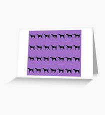 Black Lab in Purple Pattern  Greeting Card