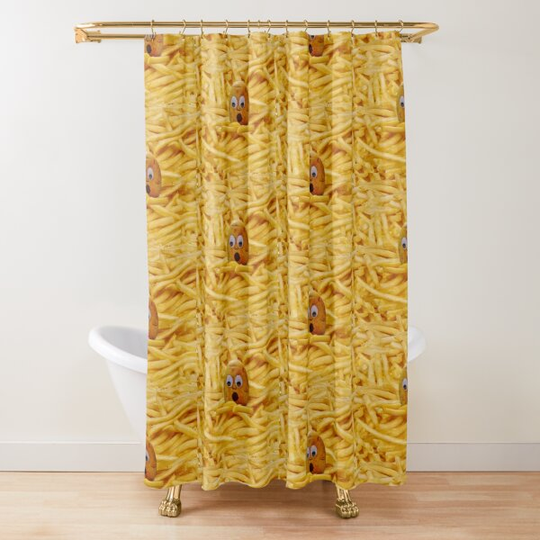 Mourning the French Fries, Funny, Joke, Potato, Potatoes, Fries Shower Curtain