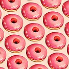 Strawberry Donut Pattern by Kelly  Gilleran