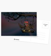 swinging rooster Postcards