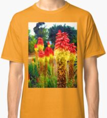 Red Hot Poker - Watercolor Classic T-Shirt