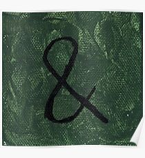 Green Ampersand (And symbol) Poster