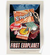 NASA JPL Exoplanet Travel Bureau: 51 Pegasi b Poster