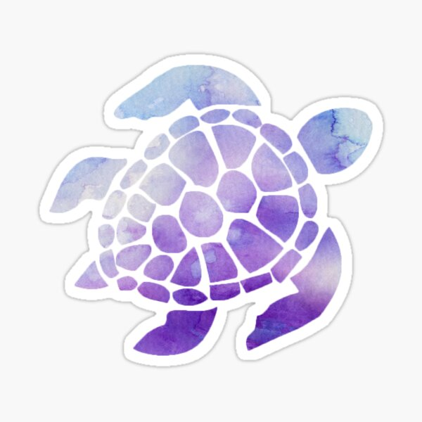 Purple Sea Turtle  Sticker