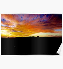 Kangaroo Valley Sunset.  Poster