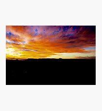 Kangaroo Valley Sunset.  Photographic Print