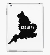 Crawley, West Sussex England UK Silhouette Map iPad Case/Skin