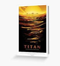 NASA JPL Space Tourism: Titan Greeting Card