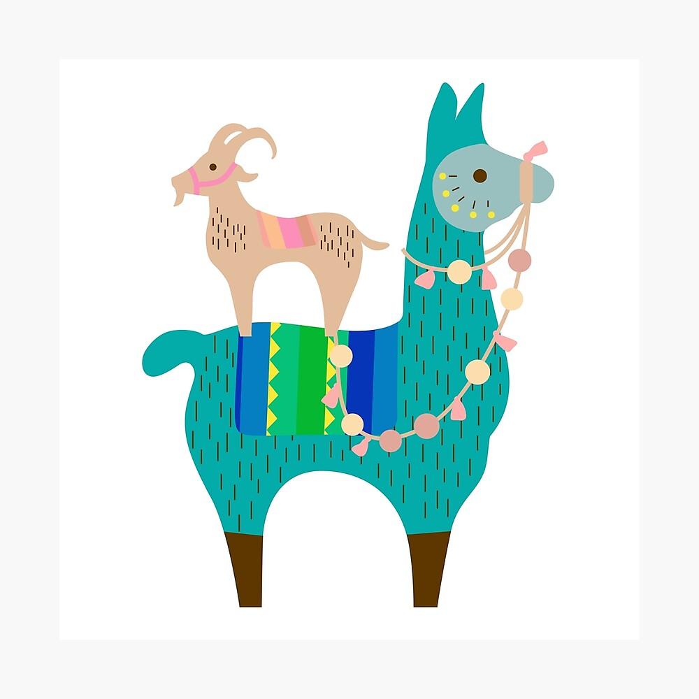 Llama Fun  Photographic Print