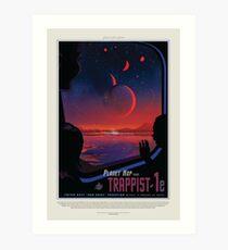 NASA JPL Exoplanet Travel Bureau: TRAPPIST-1e Art Print
