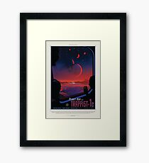 NASA JPL Exoplanet Travel Bureau: TRAPPIST-1e Framed Print