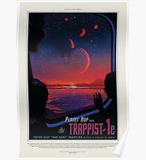 Póster Agencia de viajes Exoplanet JPL de NASA: TRAPPIST-1e