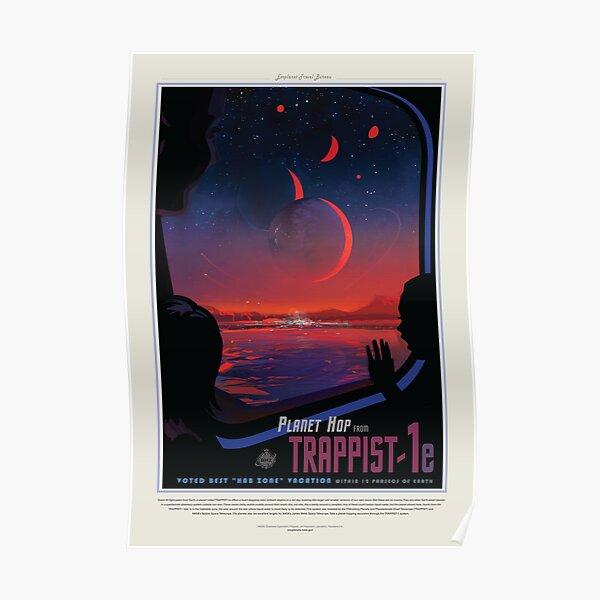 NASA JPL Exoplanet Travel Bureau: TRAPPIST-1e (8K resolution) Poster