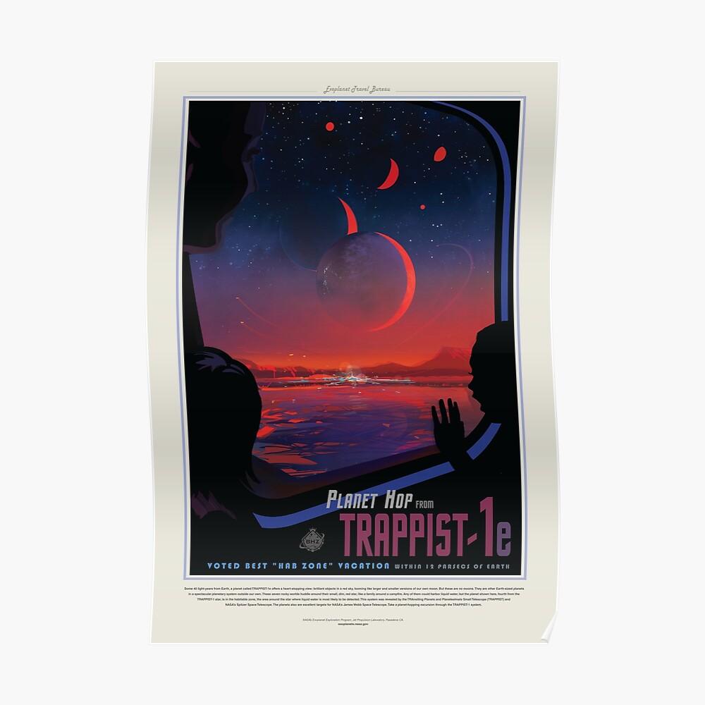 NASA JPL Exoplanet Reisebüro: TRAPPIST-1e Poster