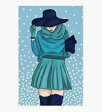 Urban Girl Blue Photographic Print