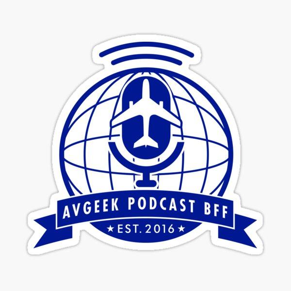 AvGeek Podcast BFF Sticker