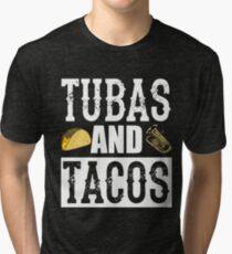 Tubas and Tacos Funny Taco Band Tri-blend T-Shirt