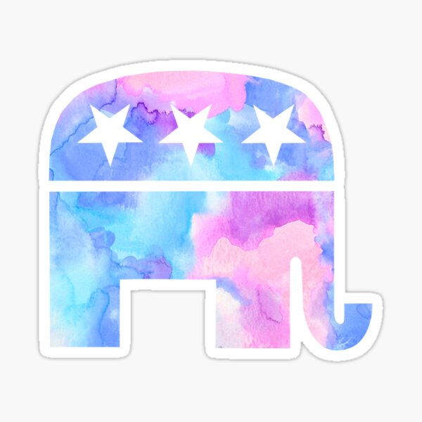 Republican Elephant  Sticker