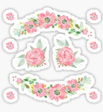 Watercolor Floral Stickers 2 Sticker