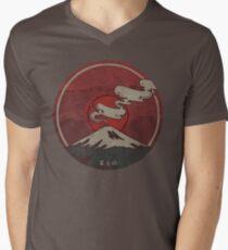 Fujisan Men's V-Neck T-Shirt