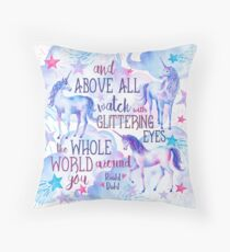 Unicorn Roald Dahl Quote Throw Pillow