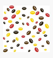 Coffee bean pattern Photographic Print