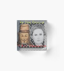 (V For Vendetta - We The People) - yks by ofs珊 Acrylic Block