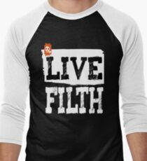 LIVE FILTH Men's Baseball ¾ T-Shirt