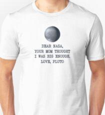 Dear Nasa Love Pluto Slim Fit T-Shirt