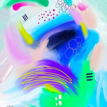Colorfull Abstract Painting by MyArt23