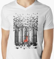 Forest Fawn Mens V-Neck T-Shirt