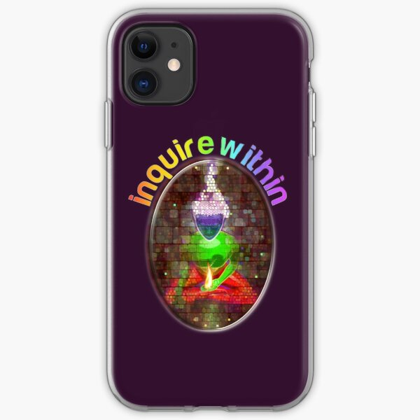 inquire within (rainbow meditation) iPhone Soft Case