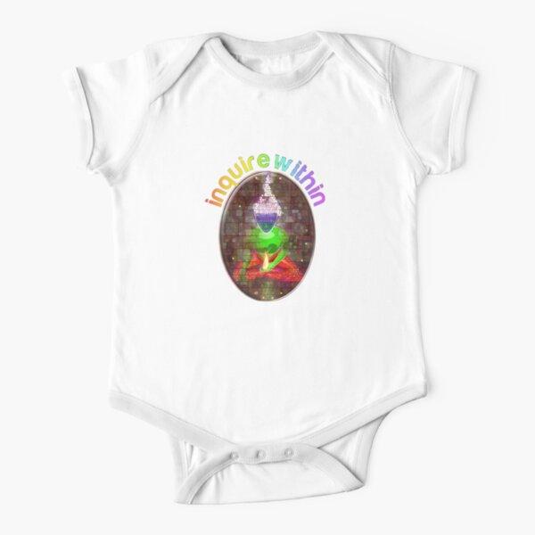 inquire within (rainbow meditation) Short Sleeve Baby One-Piece