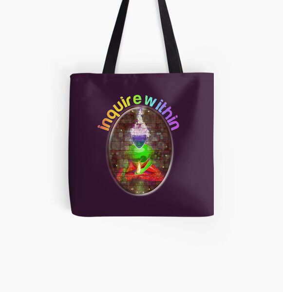inquire within (rainbow meditation) All Over Print Tote Bag