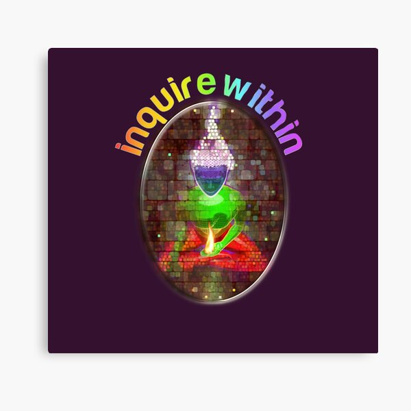inquire within (rainbow meditation) Canvas Print